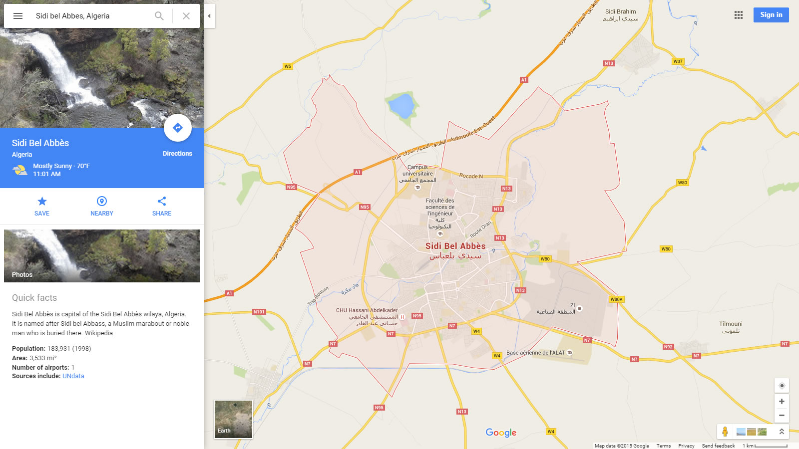 sidi bel abbes map