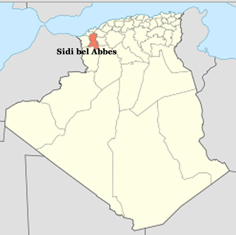 where is sidi bel abbes in algeria