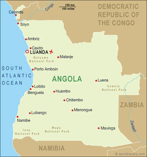 angola map cities