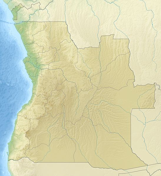 angola relief map