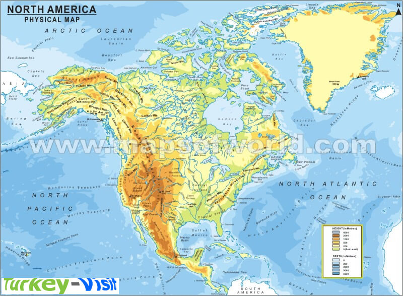North America Map Continent