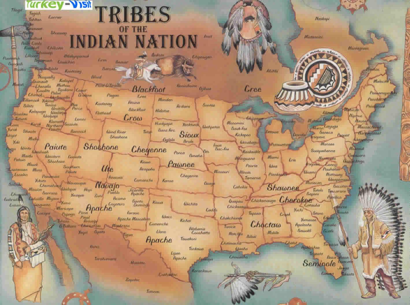 North America Native American Map