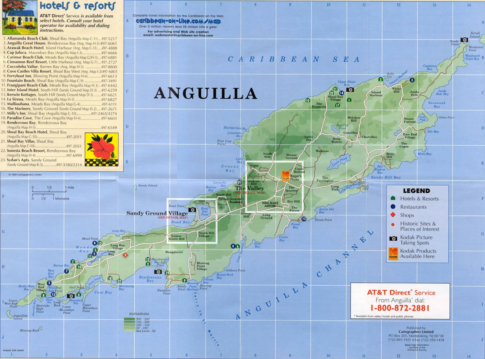 Anguilla physical map