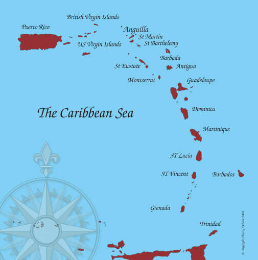 anguilla map caribbean sea