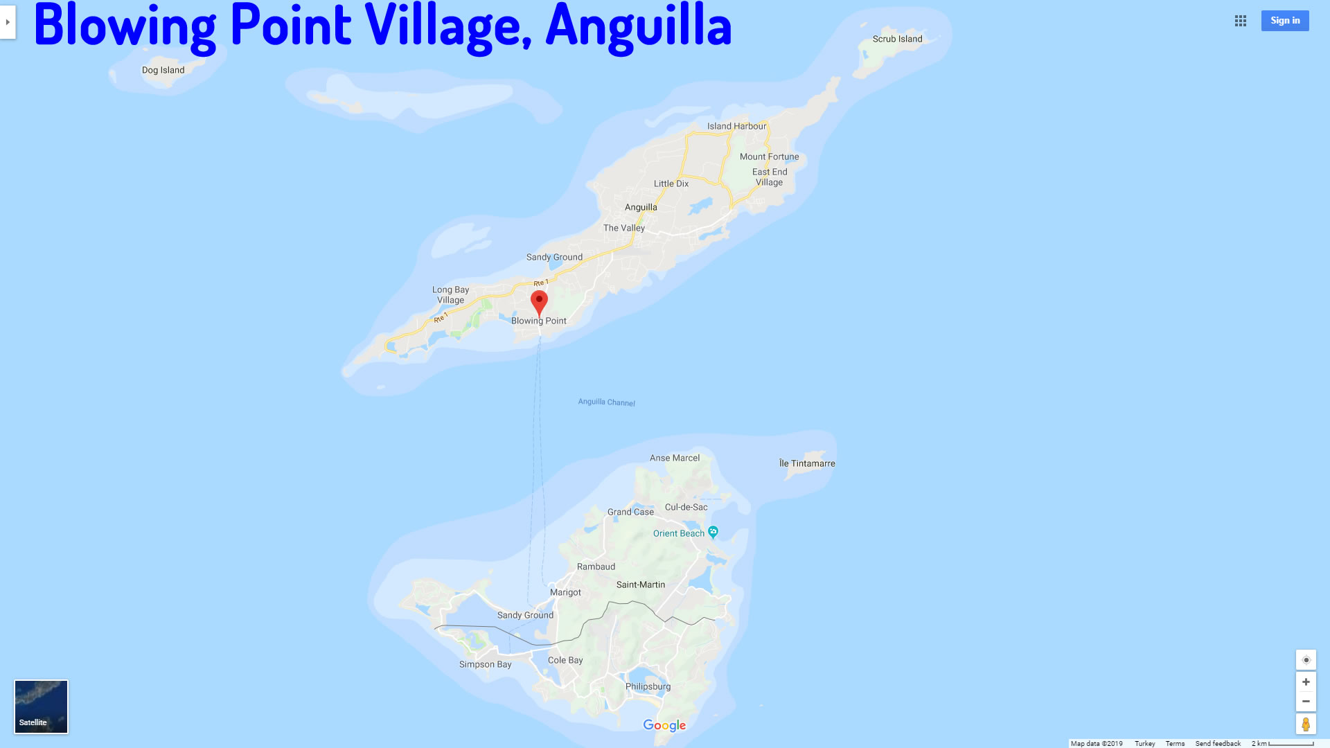 Blowing Point Village map Anguilla