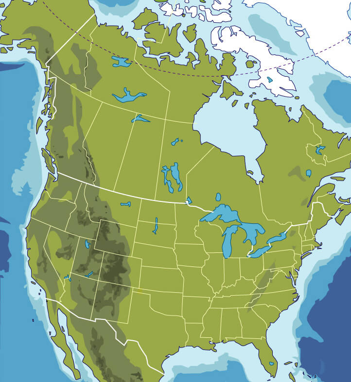 North America Map blank