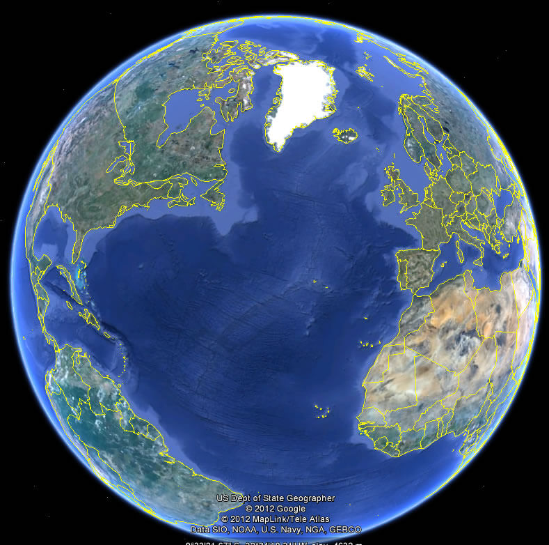 World Topographic Map - Guide of the World