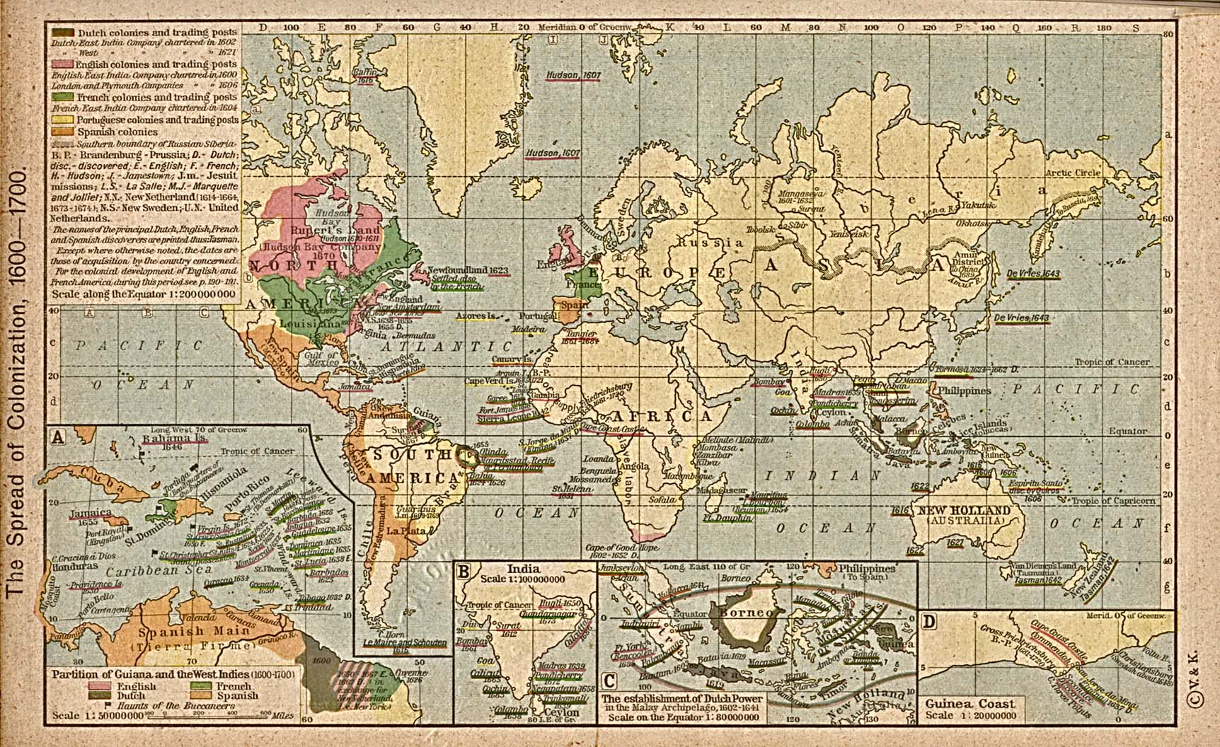 World Colonization Map 1600 1700