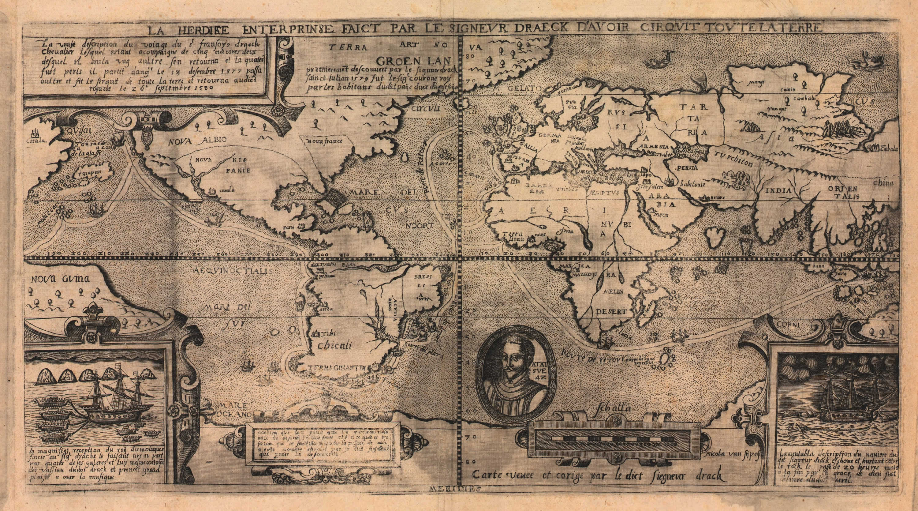 World Historic Map 1581