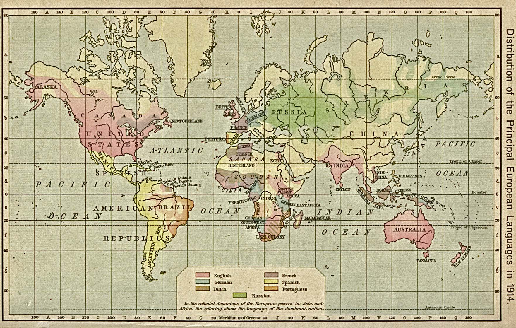 World Languages Map 1914
