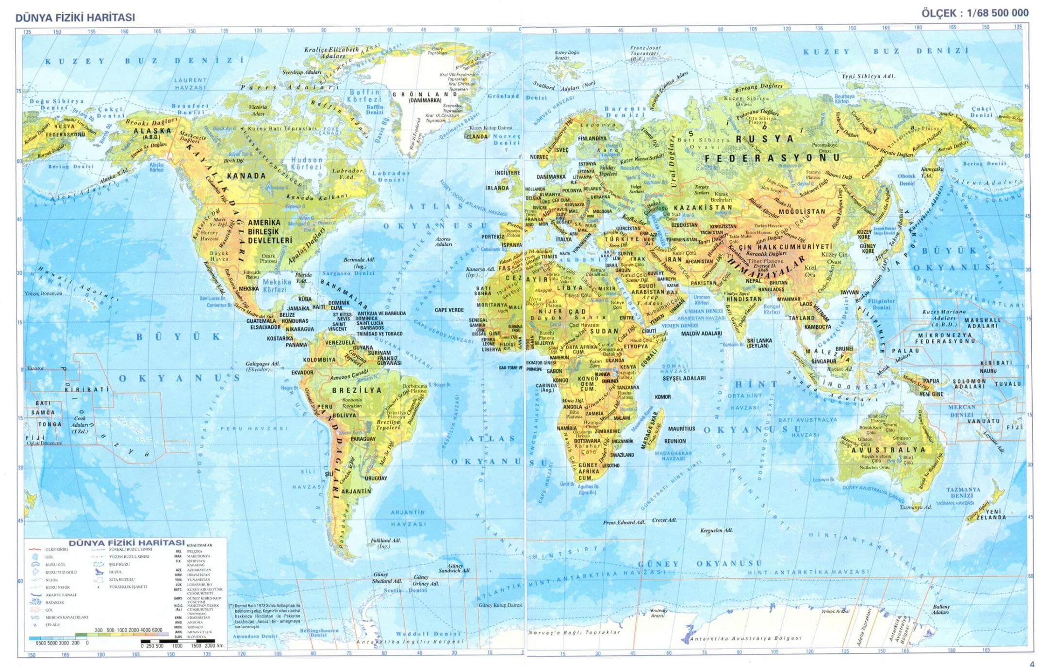 World Physical Maps - Guide of the World