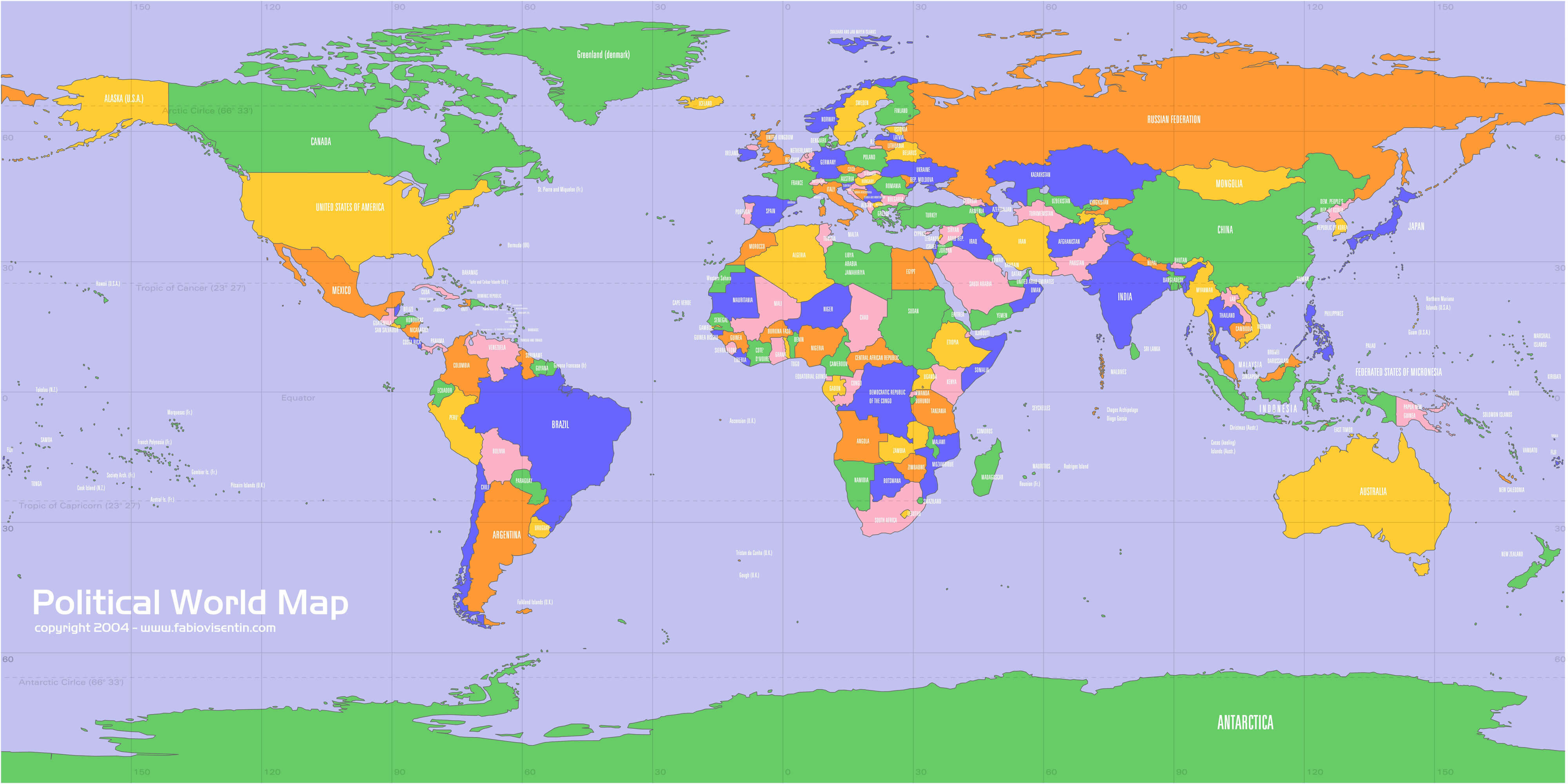 Politic Map of the World
