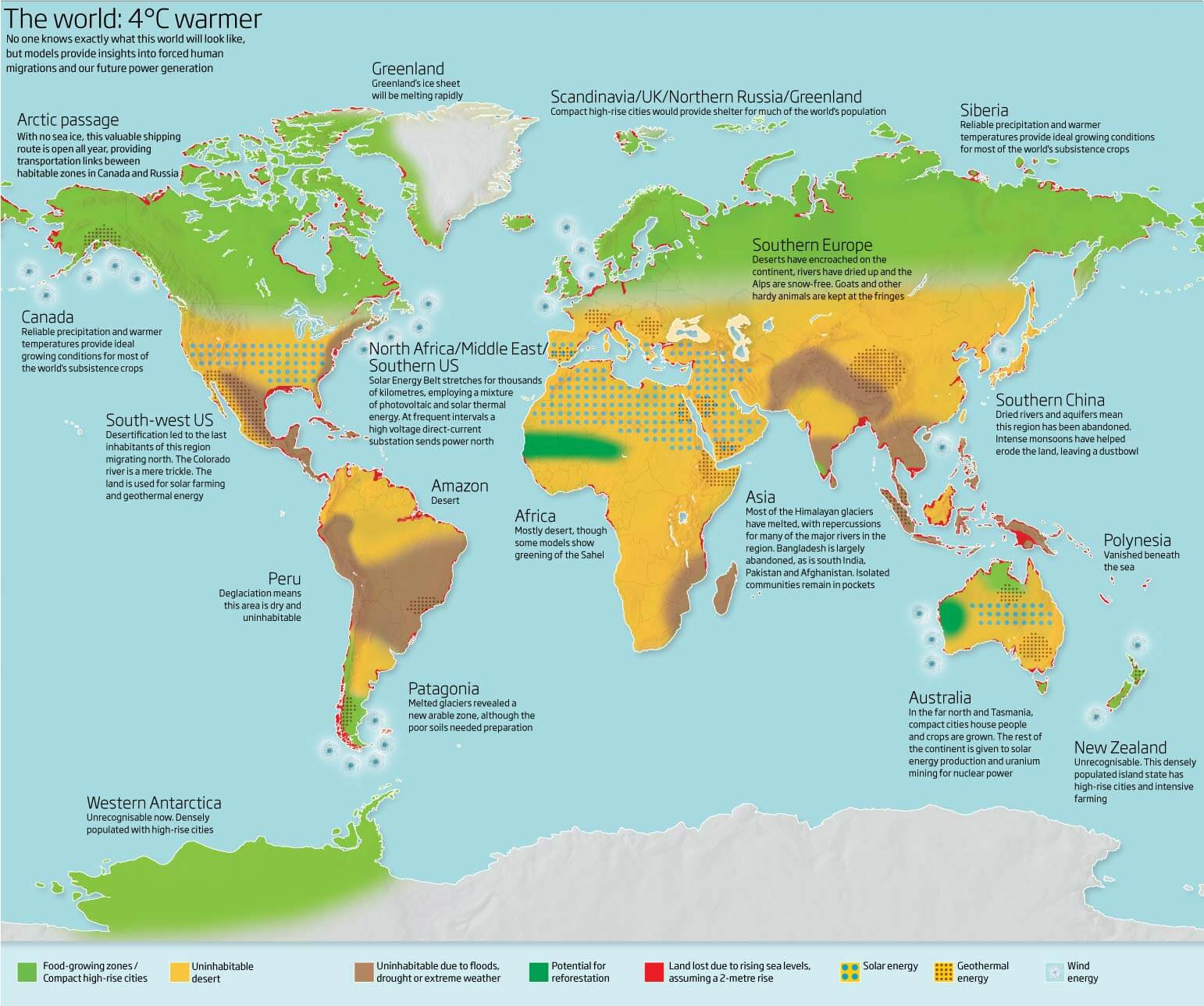 World Agricultural Areas Map