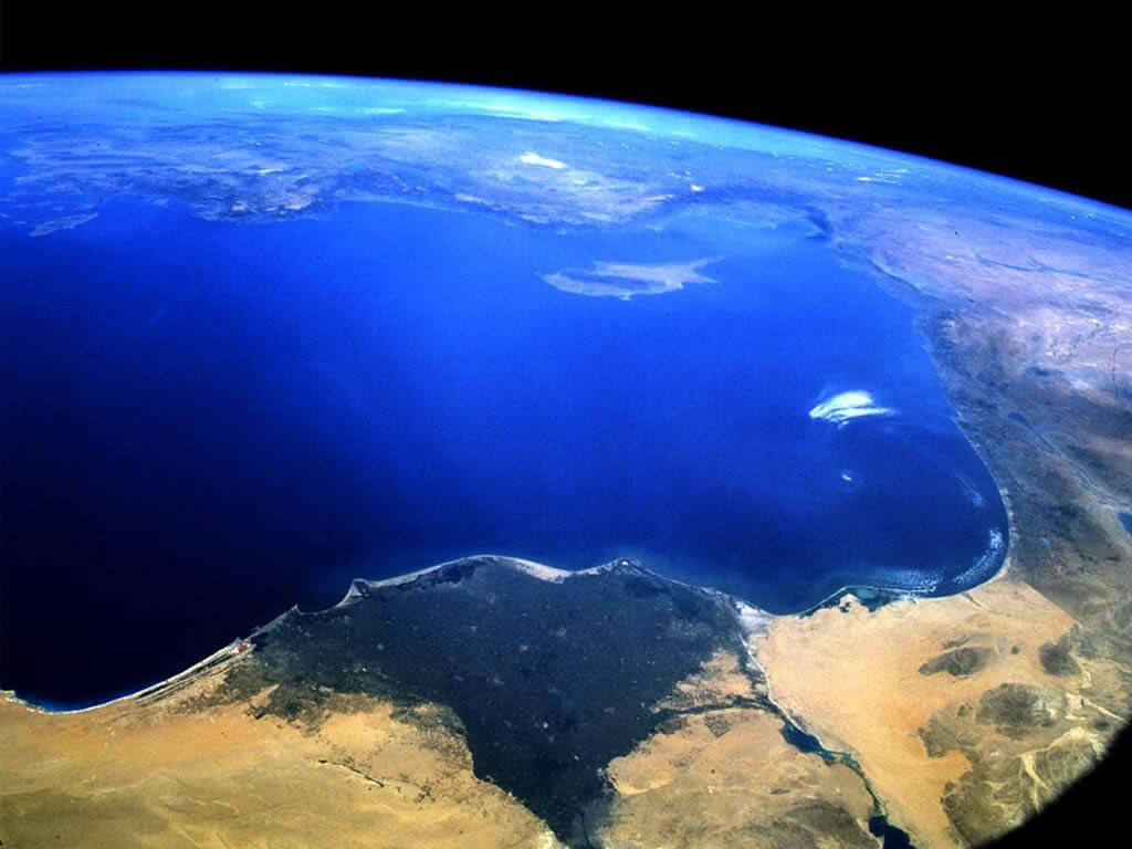 World from Space Egypte Cyprus