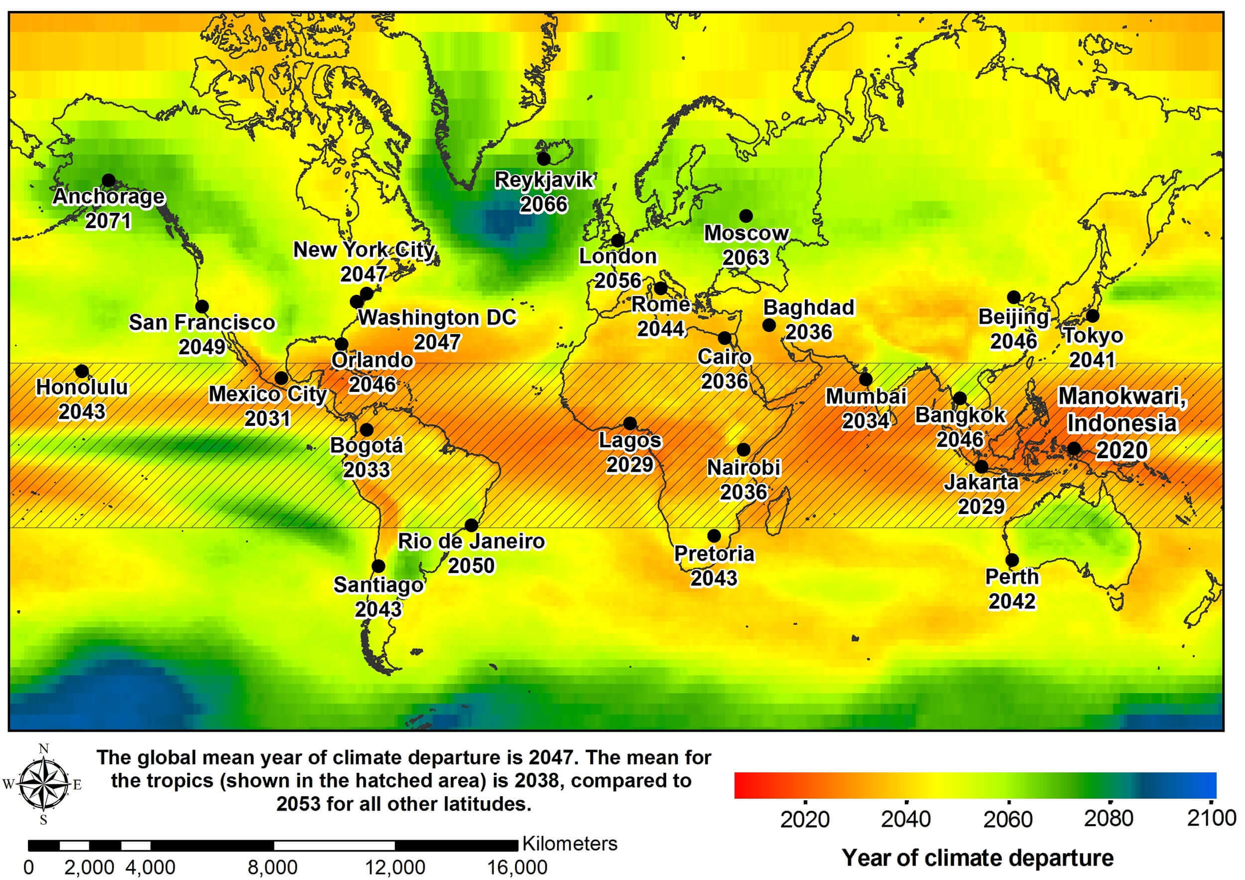 World Temperature Areas Map