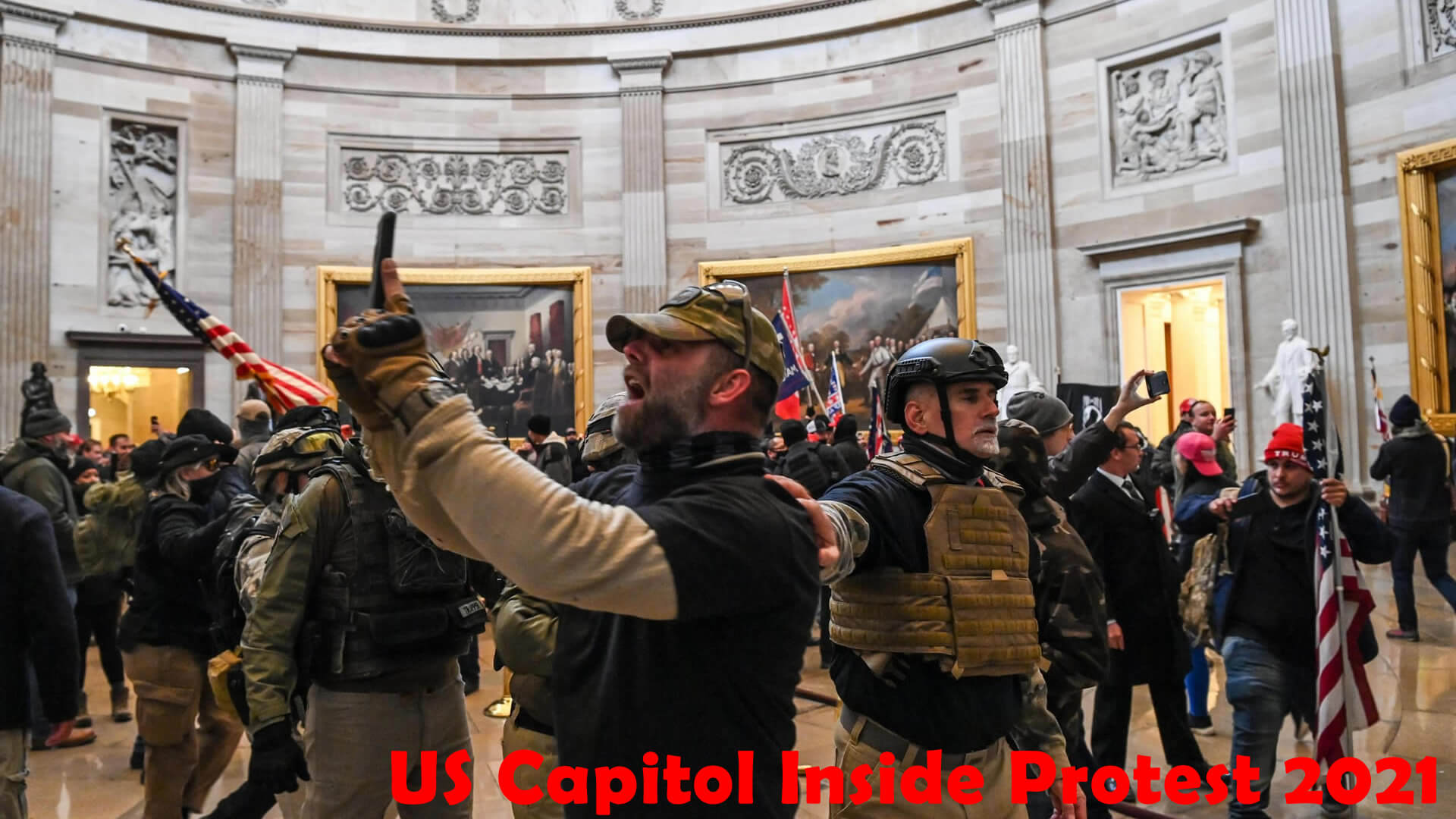 US Capitol Inside Protest 2021