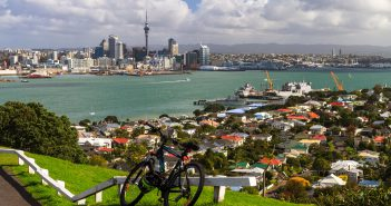 Auckland City from Mount Victoria, Devonport, New Zealand