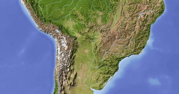 South America Satellite Map