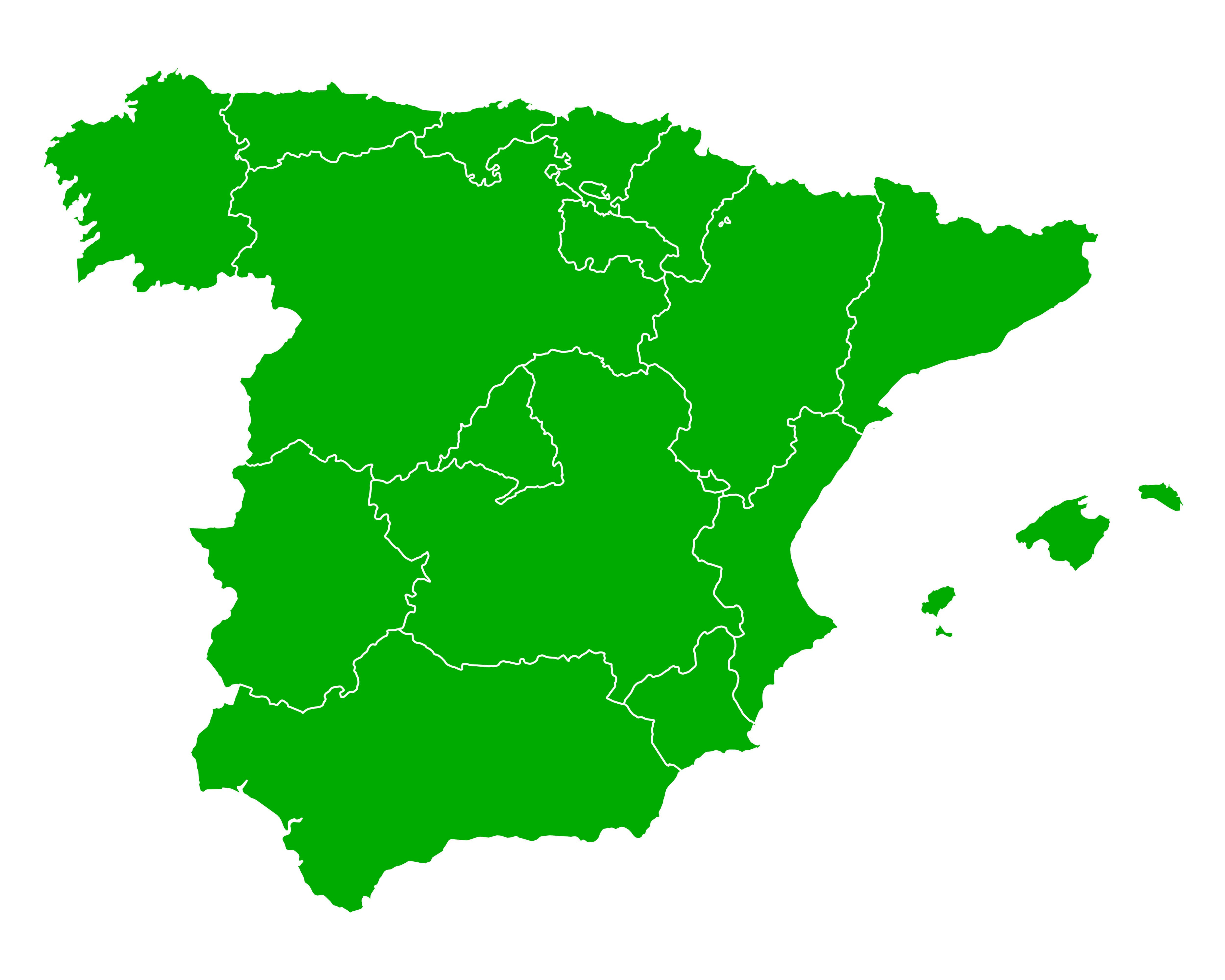 Blank Map Of Spain Regions.Map Of Spain Guide Of The World