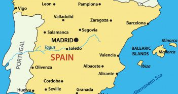 Spain Main Cities Map