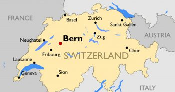 Switzerland Main Cities Map