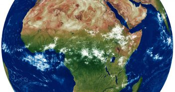 africa earth satellite map