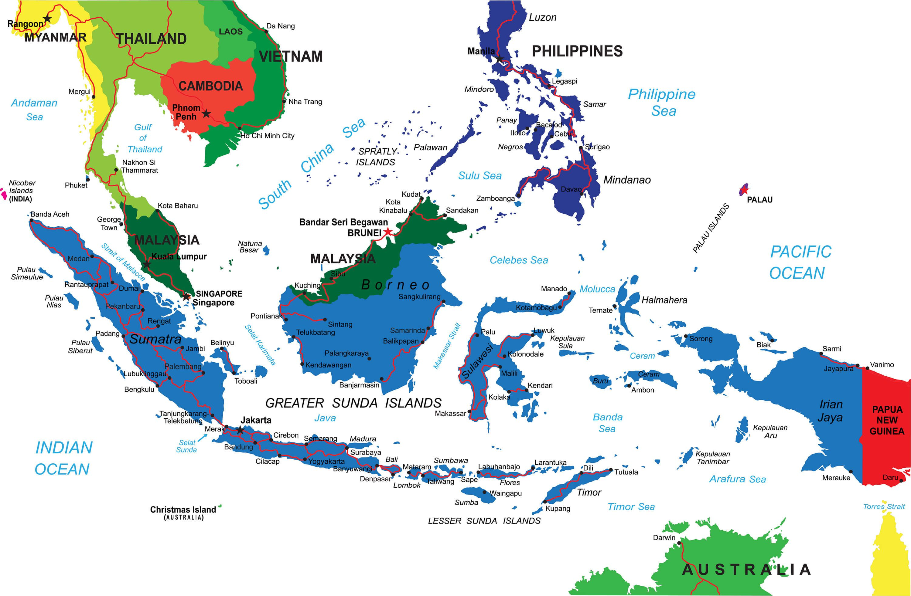 Indonesia Map - Guide of the World