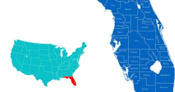 Florida Counties Map