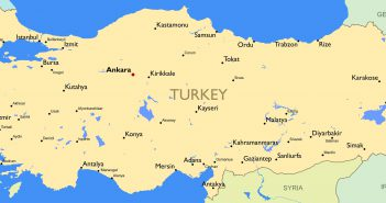 Turkey Main Cities Map