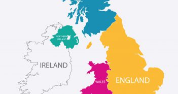 United Kingdom Colorful Map