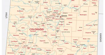 Colorado administrative map