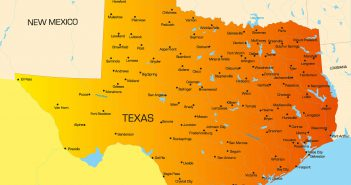 Color Map of Texas