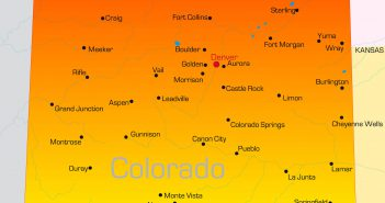 Vector color map of Colorado state, USA