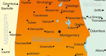 Color Map of Alabama