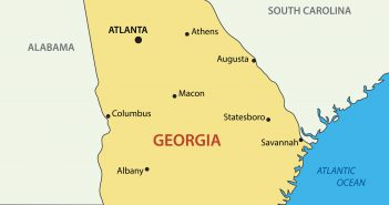 Georgia US State Map