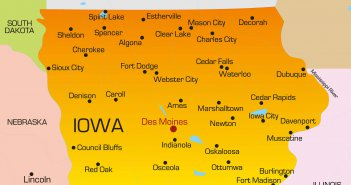 Color Map of Iowa