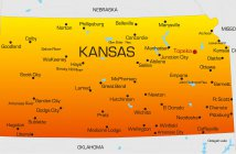 Color Map of Kansas