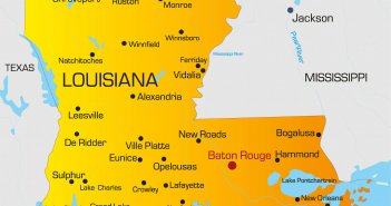 color map of louisiana