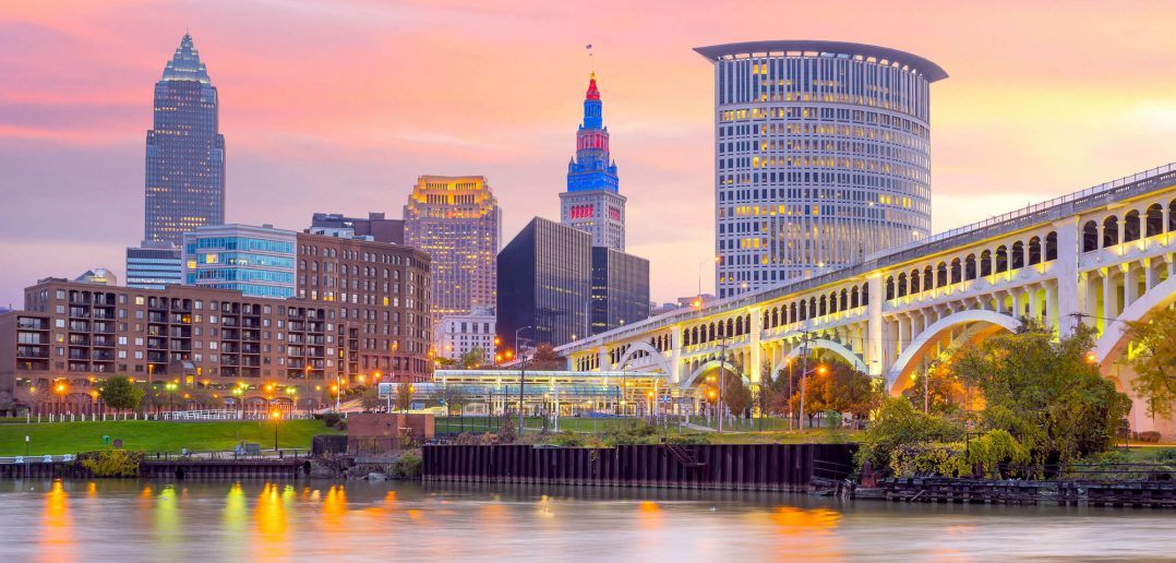 Downtown Cleveland in Ohio