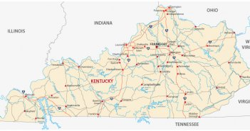 kentucky map usa Archives Guide of the World