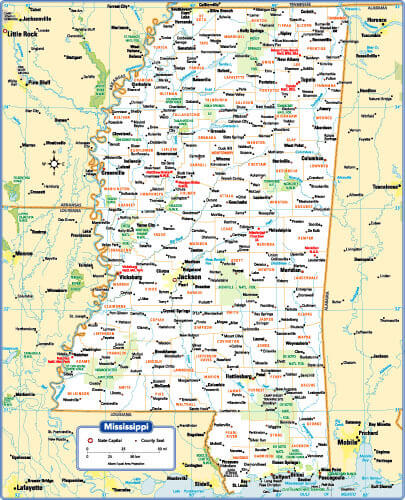 Mississippi State Map