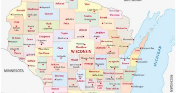 Wisconsin Administrative Map