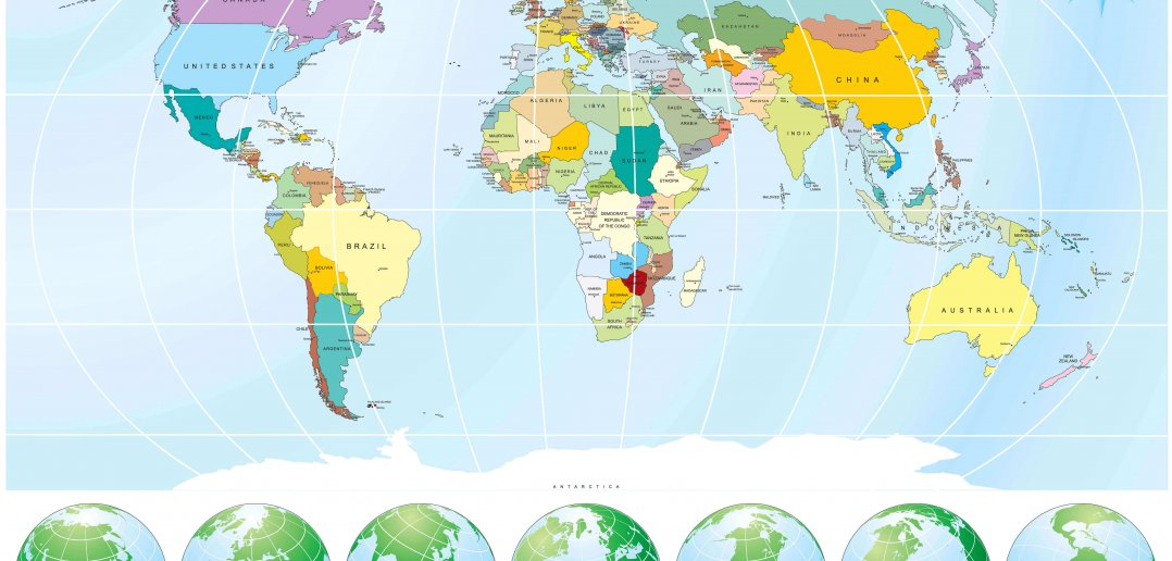 World Maps in Different Languages