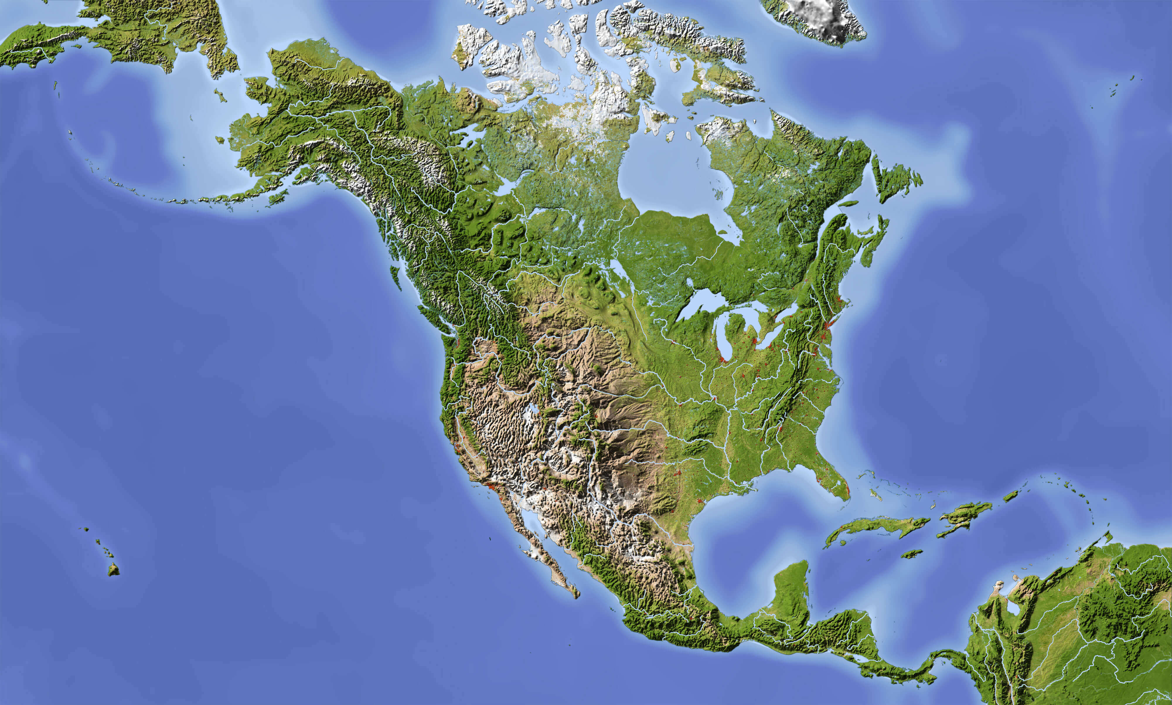 North America Maps - Guide of the World