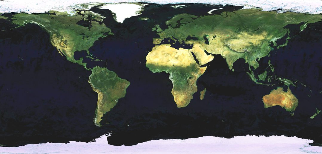 whole world satellite map