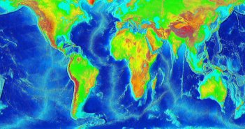 world elevation map