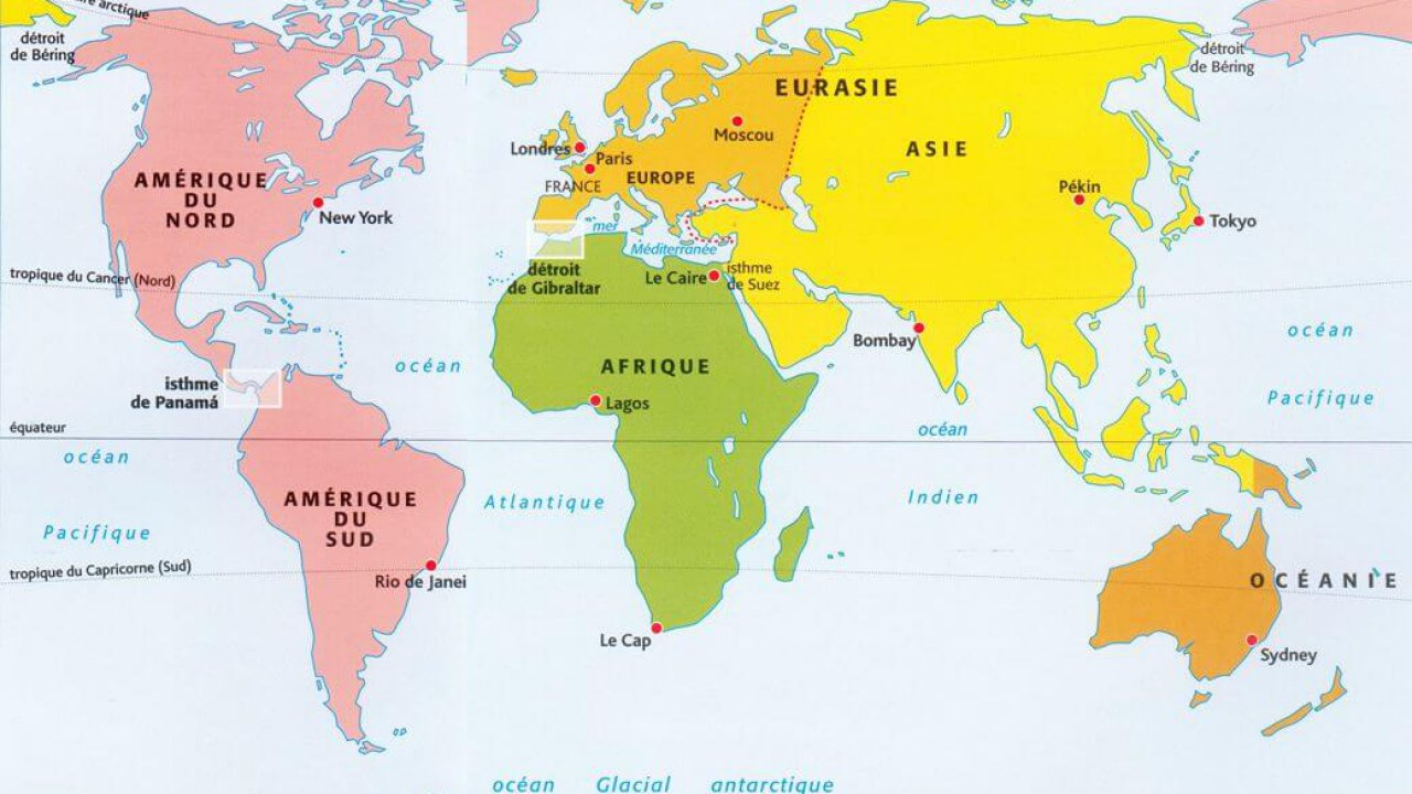 World Map Continents - Guide of the World