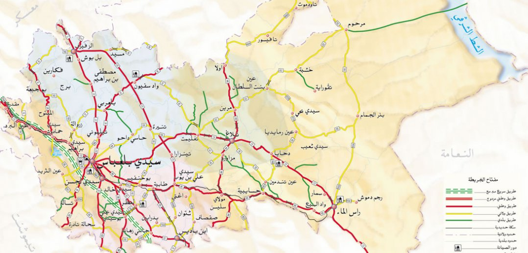 sidi bel abbes city center map