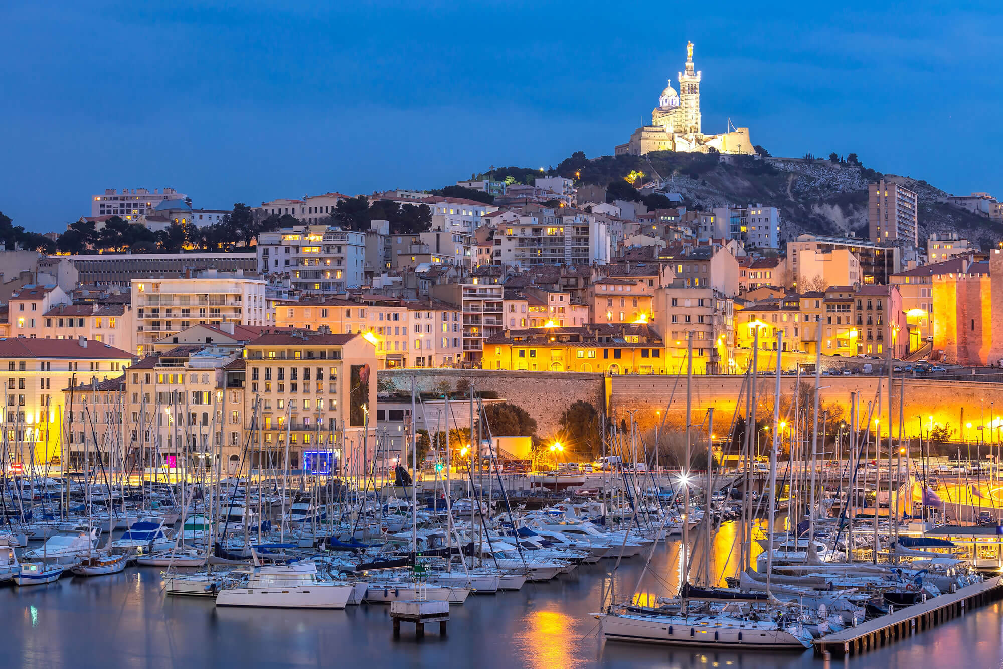marseille france at night