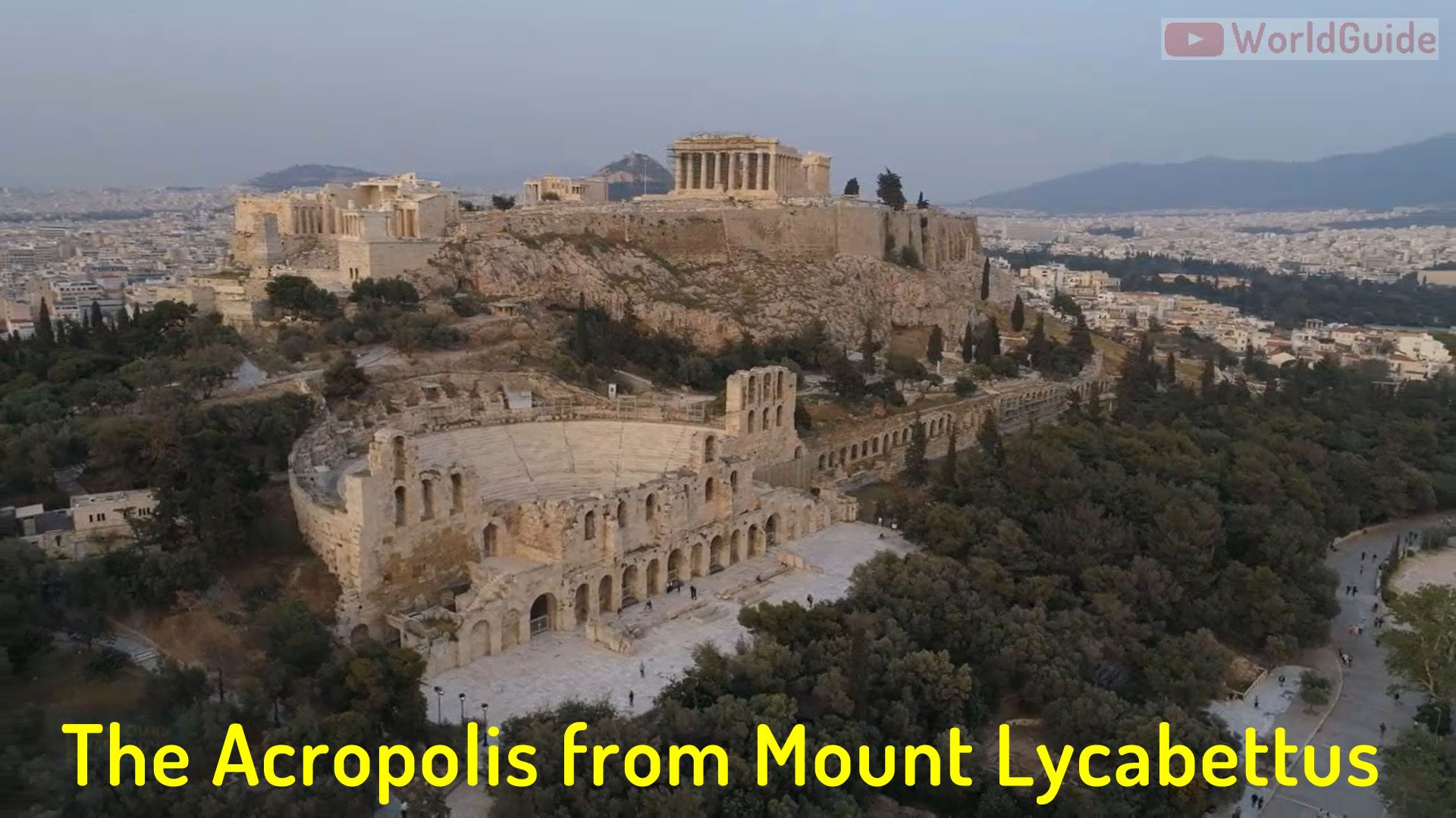 Acropoli from Mount Lycabettus